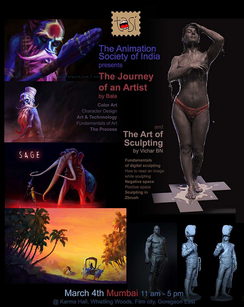 The Art of Sculpting & Colour Art For Animation