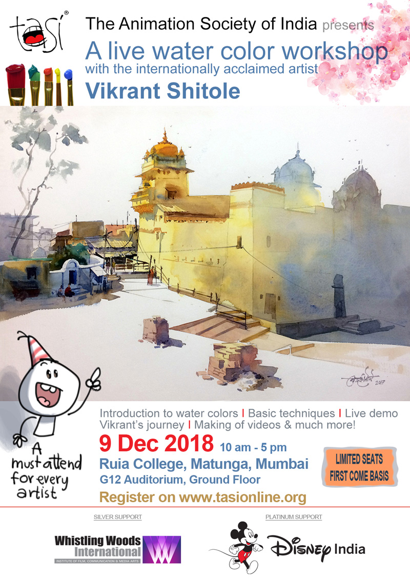 Live Watercolour Workshop with Vikrant Shitole